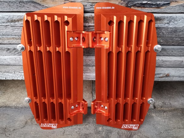 Airflow Radiator Guard CNC made from Aluminum block (KTM/Husqvarna)