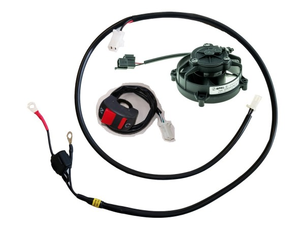 FAN Set, Cable Harness, SPAL, Switch, Loom with Fuse