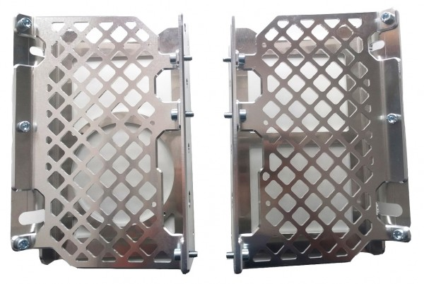 Radiator Guard with Grid and Fan Mounting (2018-2019 GasGas/Rieju from 2021)